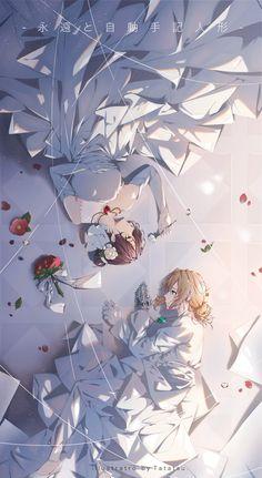 Violet Evergarden Wallpaper, Look Wallpaper, Aesthetic Header, Aesthetic Anime, Yuri Anime, Manga Anime, Violet Evergreen, Violet Garden, Anime Pictures