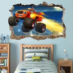 Blaze And The Monster Machines AJ Smashed Wall Decal Removable Wall Sticker H172