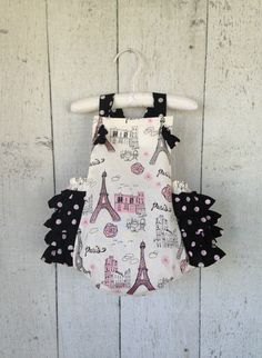 Baby Girl Romper Paris by PreciousBabyAttire on Etsy, create your own combination!