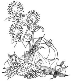 fall coloring pages printable Coloring Pages Fall Harvest