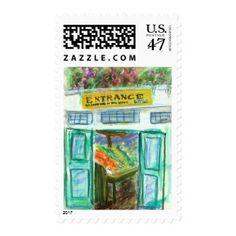 Marketplace Entrance Postage Stamp