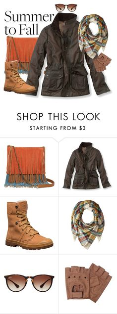 """Out (and About) Field Jacket"" by rachael-aislynn ❤ liked on Polyvore featuring Arizona, L.L.Bean, Palladium, Steve Madden, Ray-Ban, Fall, Boots, jacket, layers and accessories"