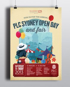 PLC Sydney Open Day and Fair Identity - Sydney Graphic Design and Branding: Boheem in Surry Hills #vintage #identity #event