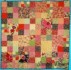 Simple Times--looks like a simple idea and another good way to use up scraps for a mission quilt.  Wish I liked making the same pattern over and over again!