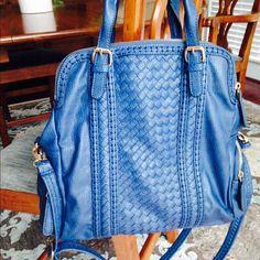 2 Day Sale Urban Expressions Blue Handbag Used once.  Luxurious, quality, vegan leather handbag. Beautiful blue. Urban Expressions Bags