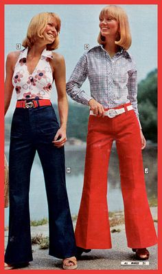 Looking cool. Montgomery Ward 1975 catalog. Halters and hip huggers