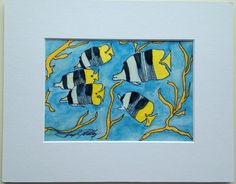 Original Watercolor Tropical Fish 2 8x10 by SunberryCreations, $12.00 Here is my second Undersea Fun painting.  Alone, or together, they are fun!