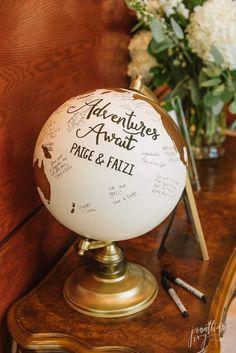 Guest Sign Travel Globe Adventure Awaits