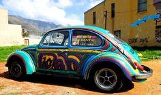 Why not pep up a beetle? Street Art By Miguel Lomott, Senor Gruen - Cape Town (South Africa)