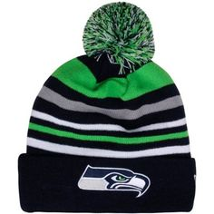 5be805b5c New Era Seattle Seahawks Stripe Out Long Knit Hat - College Navy