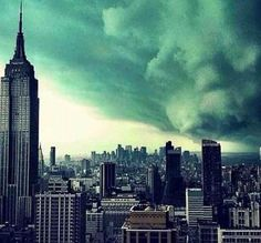 Is that really a picture of Hurricane Sandy descending on New York?  No again, taken in 2011