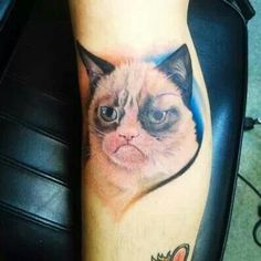 I love Grumpy Cat and I love tattoos but I'll pass on this one