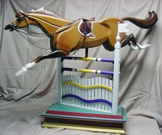 Show Jumper - Customized Rocking Horse And Jump (installments Gladly Accepted)