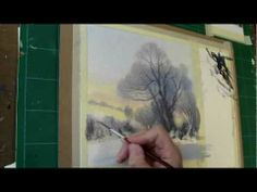 'How to paint a watercolour snow scene / North Yorkshire' - Full demonstration. - YouTube