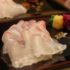 REBLOGGED - Thinly sliced Stone fish from Ise.