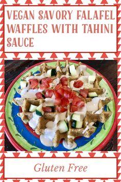 My Recipes, Gluten Free Recipes, Falafel Waffle, Tahini Sauce, Waffle Iron, Vegan Vegetarian, Waffles, Easy Meals, Eat