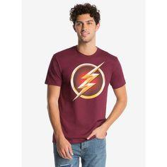 DC Comics The Flash Flashpoint TV Logo T-Shirt ($29) ❤ liked on Polyvore featuring men's fashion, men's clothing, men's shirts, men's t-shirts, men, tees, tops, mens short sleeve t shirts, mens crew neck shirts and mens crew neck t shirts