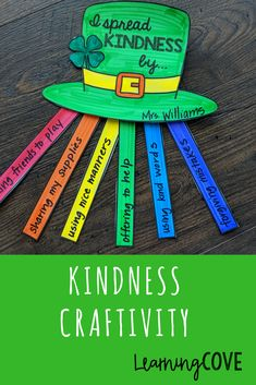 SPREAD KINDNESS! These kindness activities will get your students thinking about kindness and the effect it has on others. There are 3 different craftivities with multiple formats/fonts for each. Great for St. Patrick's Day and bulletin boards! What is included: Rainbow Craftivity Pot of Gold Craftivity Leprechaun Hat Craftivity blank ones writing prompts