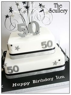 50th birthday cake | party ideas | pinterest | 50th birthday, 50th  50th Birthday Square Cakes For Women 50th Birthday Square Cakes For Women