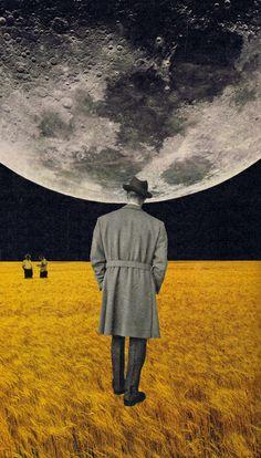 How high the moon Art Print