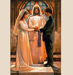 Previous pinner: What marriage really is, union between one man, one woman and God. <--This is beautiful! If Jesus is at teh center of your marriage (or any relationship, really), then it will be strong. Catholic Marriage, Marriage Vows, Love And Marriage, Catholic Wedding, Biblical Art, Jesus Pictures, Jesus Pics, Religious Art, Catholic Art