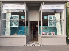 A wonderful window display of our new wallpapers from F&B stockist Callaghan Interiors Decoration, UK