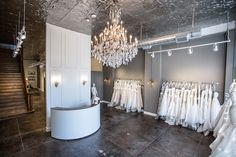 Amazing chandelier in the new @heidielnora Atelier http://southernweddings.com/2016/09/22/bridal-shop-spotlight-heidi-elnora-atelier/