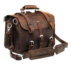 Bard Judith says:  Travel duffel, from Neo's Handmade Leather Bags, via uncovet.  Beautiful styling and great distressed look that makes me imagine slinging it casually over my shoulder as I board the Orient Express, or possibly dismount from a camel....