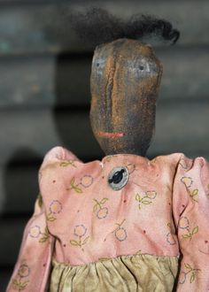 OOAK Primitive Doll Folk Art Mammy OFG by stitchintimepatterns, $25.95