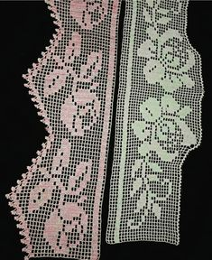 #havlukenarı #alıntı Crochet Lace Edging, Filet Crochet, Bedding Sets, Dining Table Runners, Bath Linens, Crochet Shorts, Crochet Table Runner, Christmas Things, Dish Towels