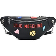 22235b1be5cb Love Moschino Bum Bag (1175355 PYG) ❤ liked on Polyvore featuring bags