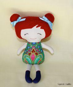 Jade. Cloth doll, soft toy, softie, plush toy. $55.00, via Etsy.