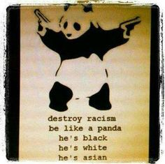 """And its like a 99% chance my child will be a """"panda"""" cause im white and asian and I am attracted to black guys."""
