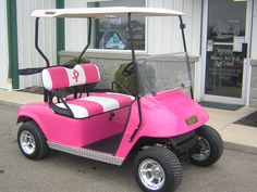 aww cute..we have a golf cart at camp..need to paint it..don`t think my hubby would go for this though...lol..