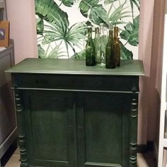 Amsterdam Green with Dark Wax cupboard at The Shabby Shed www.shabbytreats.com
