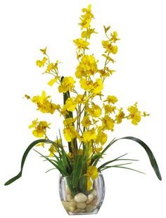 Nearly Natural 1119-YL Dancing Lady Orchid Liquid Illusion Silk Flower Arrangement, Yellow Nearly Natural,http://www.amazon.com/dp/B00BEJ8V7U/ref=cm_sw_r_pi_dp_lp4itb1SNWXHH7J6