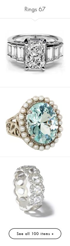 """""""Rings 67"""" by singlemom ❤ liked on Polyvore featuring jewelry, rings, accessories, anillos, 14 karat diamond ring, 14k ring, radiant cut diamond rings, diamond jewelry, baguette ring and tourmaline jewelry"""
