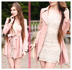 TE Pink Trench