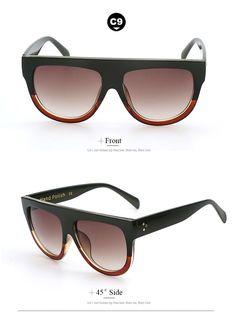 Flat Oversized Fashion Sunglasses