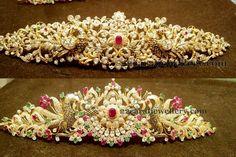 Jewellery Designs: 75 Grams Floral Vaddanam Designs