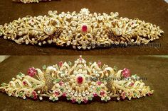 Jewellery Designs: 75 Grams Floral Vaddanam Designs