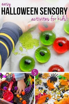 Here are some brilliant ideas for Halloween sensory tubs and small world play