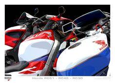 Honda RC30, RC45 and RC51