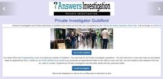 Guildford Private Investigator: http://www.answers.uk.com/office/guildford.htm Private Investigator in Guildford & Surrey – discreet investigation   Tel: 01483 200999 http://www.answers.uk.com