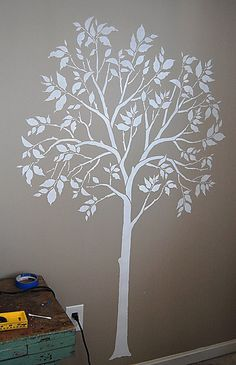 Painted Tree Stencil  even better than decal! Cutting Edge Stencils by cuttingedgestencils, via Flickr