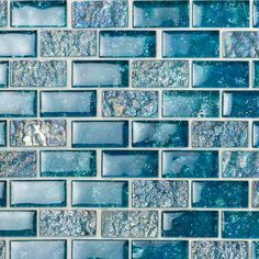 Ivy Hill Tile Marina Iridescent Aqua Brick 11 in. x 11 in. 8 mm Glass Mesh-Mounted Mosaic - The Home Depot Glass Pool Tile, Glass Mosaic Tiles, Pool Tiles, Waterline Pool Tile, Iridescent Tile, Ceramic Floor Tiles, Cement Tiles, Glass Installation, My Pool