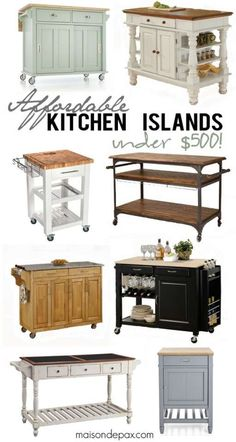Kitchen Island Small 10 types of small kitchen islands on wheels | portable kitchen