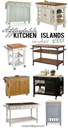 Kitchen Island Small 10 types of small kitchen islands on wheels | portable kitchen