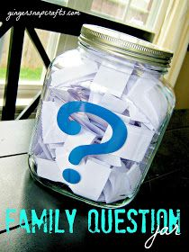 Family questions to promote family talk during mealtime.
