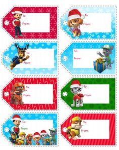 Identify holiday gifts with help from the PAW Patrol gang!